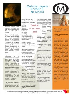 Newsletter, Morphe septembrie 2013 2
